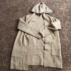 Men's longline hooded Cardigan